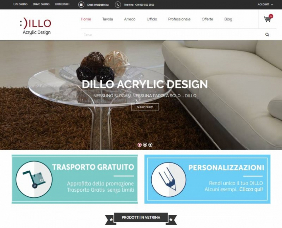 Sito E-Commerce Dillo.biz